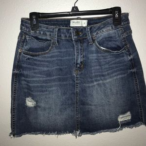 Mudd Skirts - Basic barely ripped jean shirt